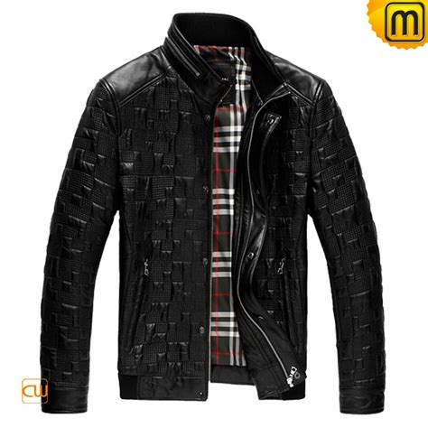 Quilted Leather Jackets by Mens Black Quilted Leather Jacket Cw866817
