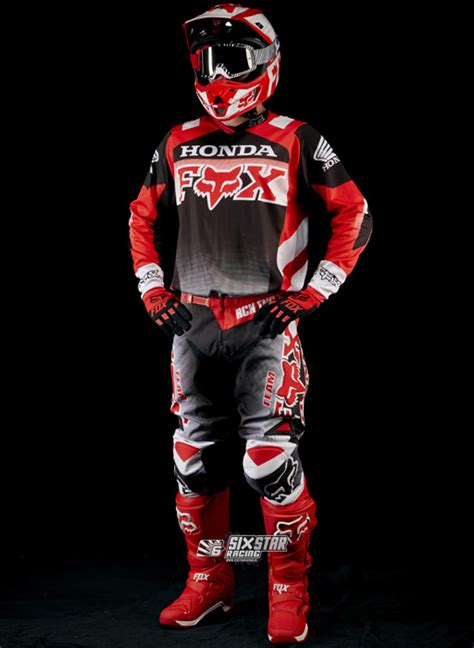 honda motocross gear 2015 fox 180 honda jersey pant motocross gear kit
