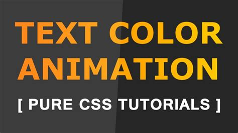 how to change text color animation css tutorials