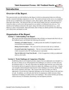 Feedback Report Template sample 360 feedback report gordon curphy phd