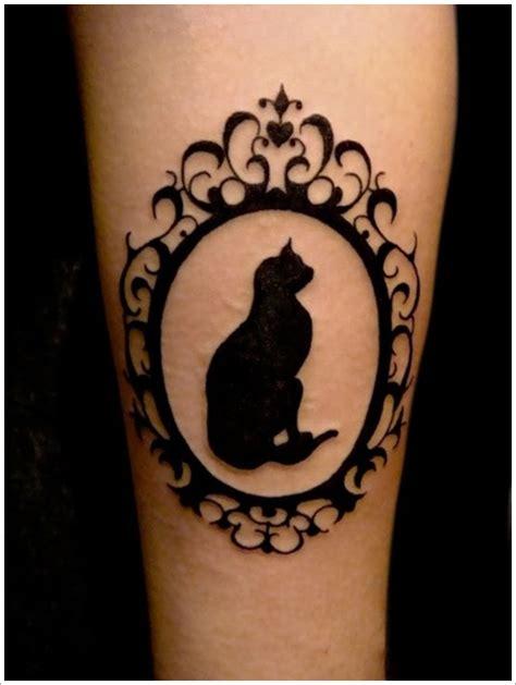 pattern cat tattoo framed cat tattoo blackwork tattoomagz