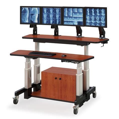 Split Level Height Adjustable Desk Afcindustries Com Electric Height Adjustable Computer Desk