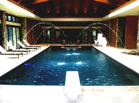 interior swimming pool water features ideas art deco indoor pool with diving board pictures to pin on pinterest