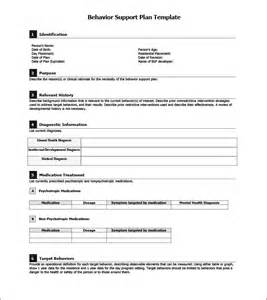 Behavior Support Plan Template by Behavior Support Plan Template 5 Free Word Pdf
