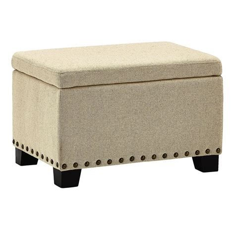 Beige Linen Storage Ottoman Christmas Tree Shops Andthat Linen Ottoman Storage