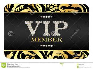 vip member card with golden floral pattern stock photo
