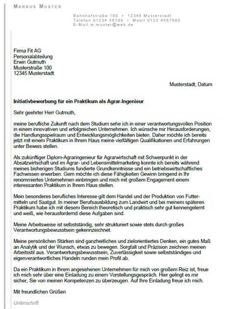 Anschreiben Praktikum Immobilien Bewerbung Diplom Agrar Ingenieur Praktikum Sofort