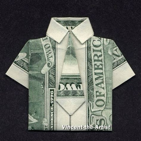 Origami Dollar Shirt - dress shirt money origami clothes dollar bill