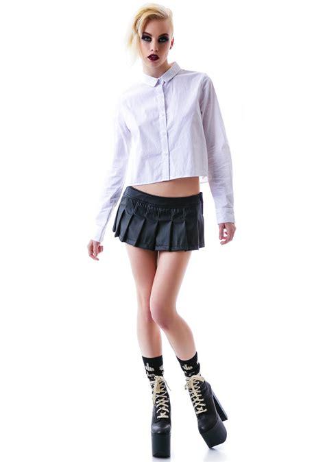 lip service look at me now pvc pleated skirt dolls kill