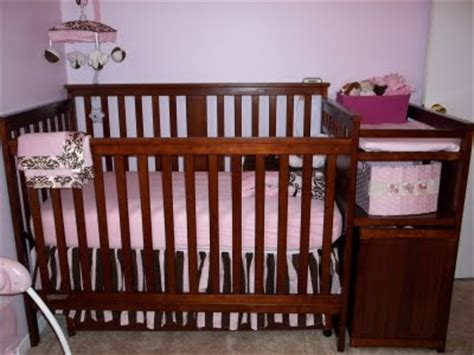 Pretty Pink And Brown Princess Nursery Pink And Brown Damask Crib Bedding