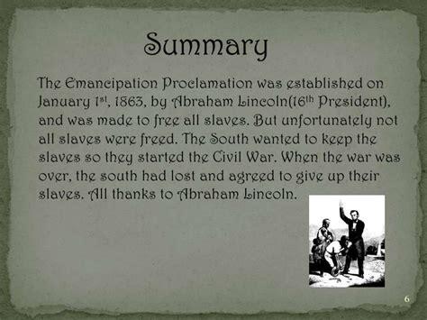 emancipation proclamation lincoln emancipation proclamation