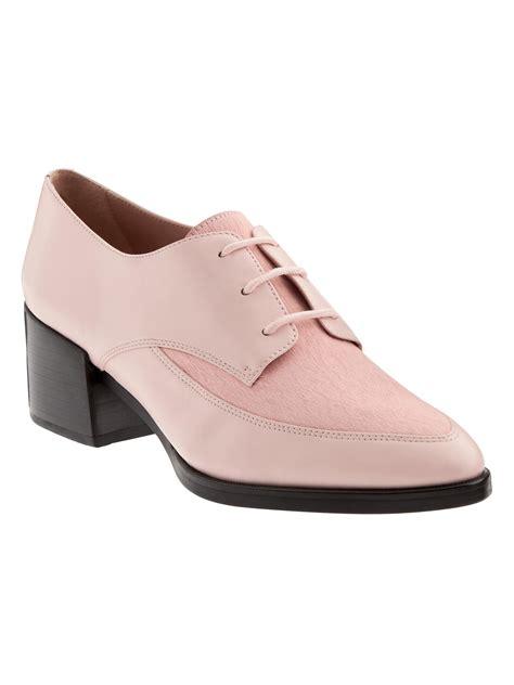 banana republic oxford shoes banana republic erica heeled oxford in pink pink blush