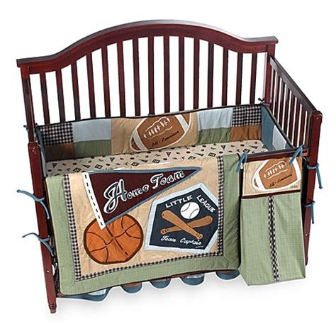 Cocalo Sports Fan 6 Piece Crib Bedding Bed Bath Beyond Crib Sports Bedding