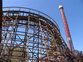roller coaster wood roller coaster