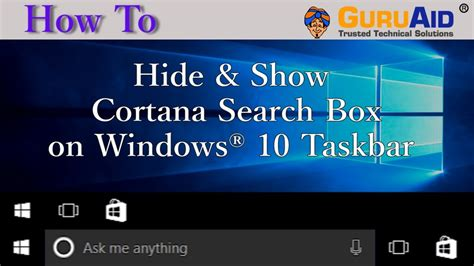 cortana search box is limited in windows 10 to microsoft how to hide show cortana search box on windows 174 10