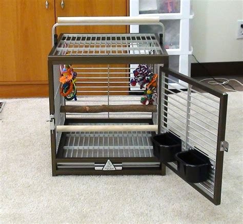 travel cage trained parrot review of aluminum travel cage