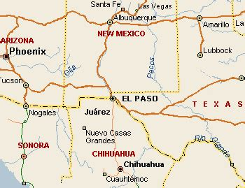 map of el paso texas and surrounding cities el paso texas map