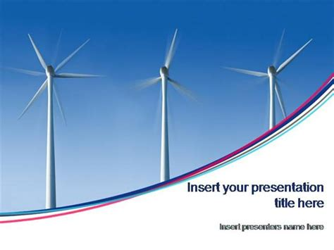 ppt templates free download wind energy environmental wind turbines powerpoint template authorstream
