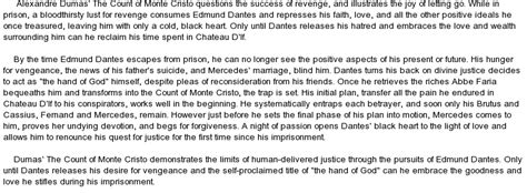 The Count Of Monte Cristo Essay by Releasing Hatred And Reclaiming In Dumas The Count Of Monte Cristo At Essaypedia