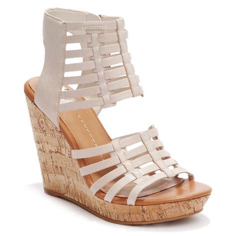 dolce vita dv by tila platform wedge sandals in beige