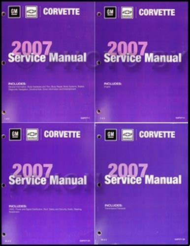 automotive repair manual 2007 chevrolet corvette security system 2007 chevrolet corvette repair shop manual 4 volume set factory reprint
