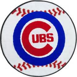 Chicago cubs baseball rug mlb round accent floor mat