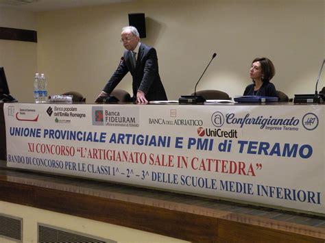 popolare dell adriatico teramo premiazione concorso l artigianato sale in cattedra