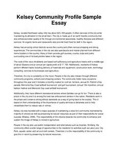 Writing Profile Essay by Kelsey Community Profile Sle Essay
