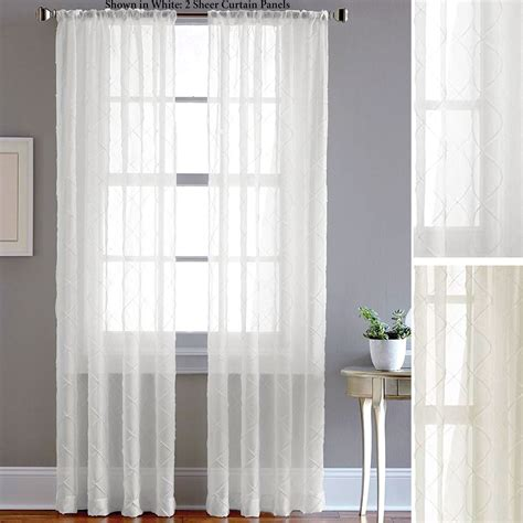 Sheer Drapery Panels pintuck sheer voile curtain panels