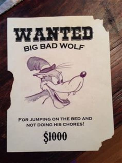printable wanted poster for the big bad wolf 1000 images about 3 little pigs birthday party on