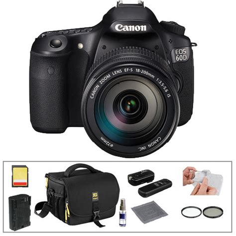 Kamera Dslr Canon 60d Kit canon eos 60d dslr with 18 200mm lens basic kit b h