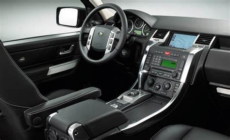 land rover sport interior car and driver