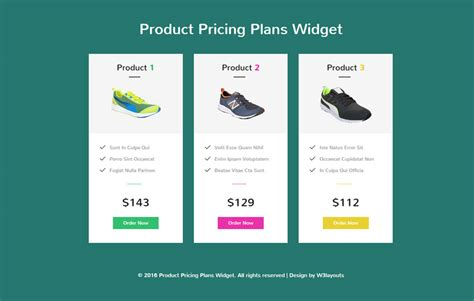 free html product page template pricing table w3layouts