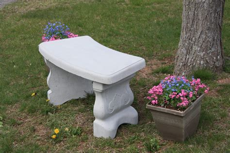 curved garden bench cover concrete vineyard bench w curved seat godawn