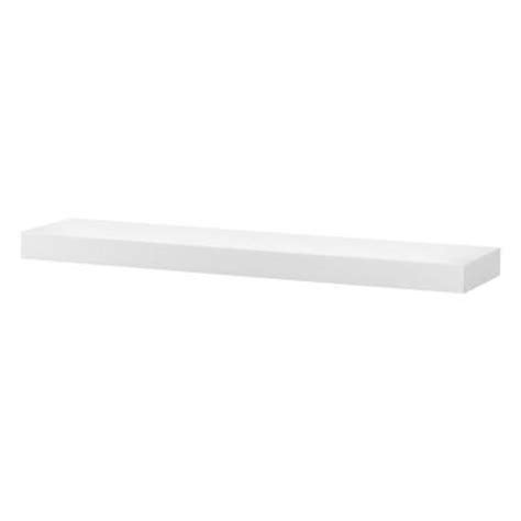foremost kole 33 3 4 in w floating wall shelf in white