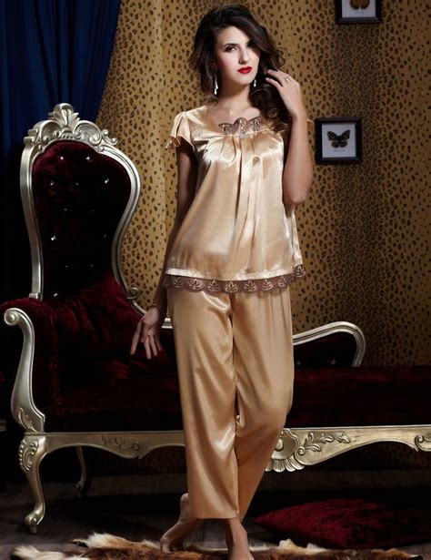 Top Atasan Pakaian Wanita Coffee V Neck Silk Xl 332032 17 best images about pijamas on eye masks satin and pajamas