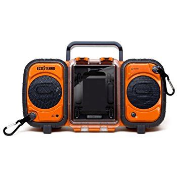ecoxgear rugged and waterproof stereo boombox hubcast 150 hubspot crm inbound17 academy orange boomboxes
