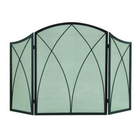 fireplace screen home depot pleasant hearth arched 3 panel fireplace screen 959 the home depot