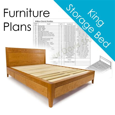 Bed Bigland Size No 2 plans for king size storage bed platform bed no 2 measured