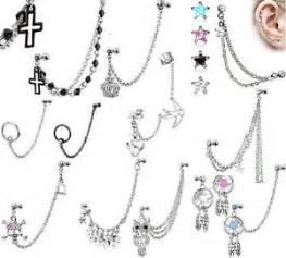 new cartilage chain dangle ear earring tragus dangle