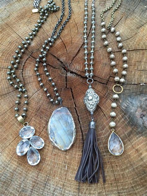 Necklace Handmade - best 20 handmade necklaces ideas on fabric