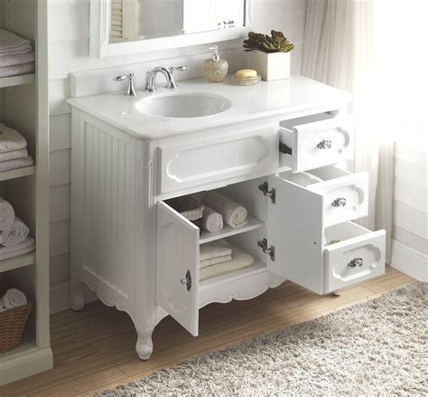 cottage style vanities for bathrooms 42 benton collection victorian cottage style white