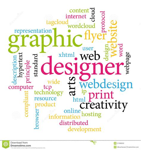 visual communication design words graphic designer tags stock photo image 21098550