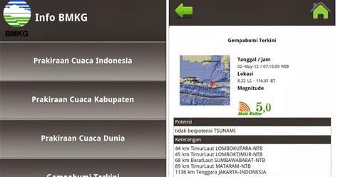 apk info aplikasi info gempa bmkg apk untuk android
