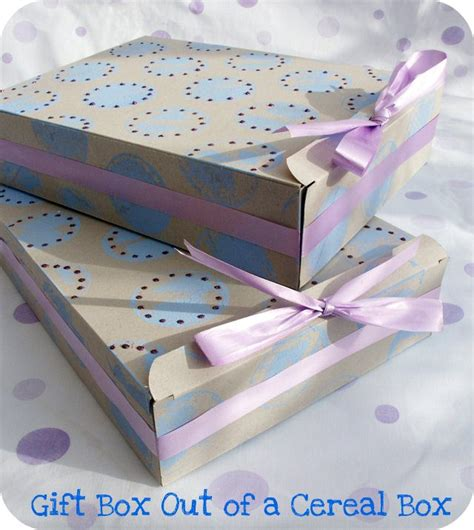 How To Make A Gift Box Out Of Paper - make a gift box out of a cereal box tip junkie