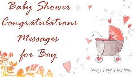 Baby Shower Congrats Wording by Baby Shower Congratulations Messages For Boy