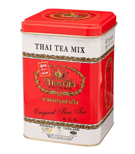 Milk Thai Tea Original Teh Thailand Asli Thaitea thai tea mix cha tra mue tin can 50 tea bags