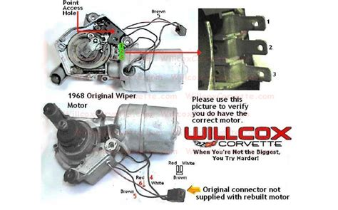 1968 corvette wiper motor wiring diagram wiper wiring