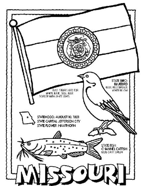 50 states coloring pages crayola missouri state symbol coloring page by crayola print or