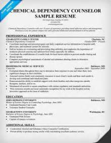 Chemical Dependency Counselor Sle Resume by Pin By Resume Companion On Resume Sles Across All Industries Pin